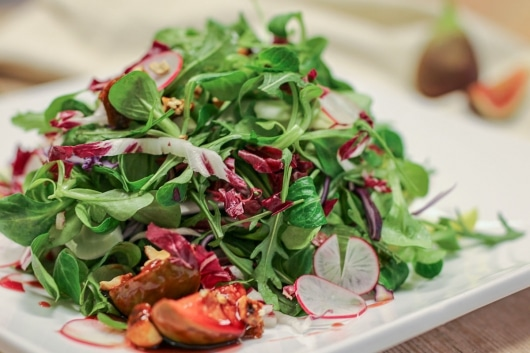 winterlicher Blattsalat