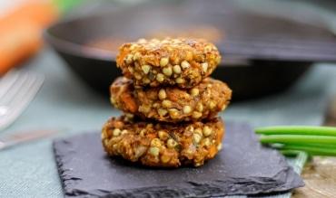 vegane und glutenfreie Buchweizenbratlinge