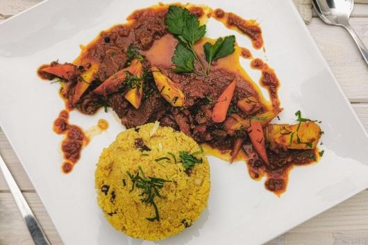 Rindergulasch mit Couscous