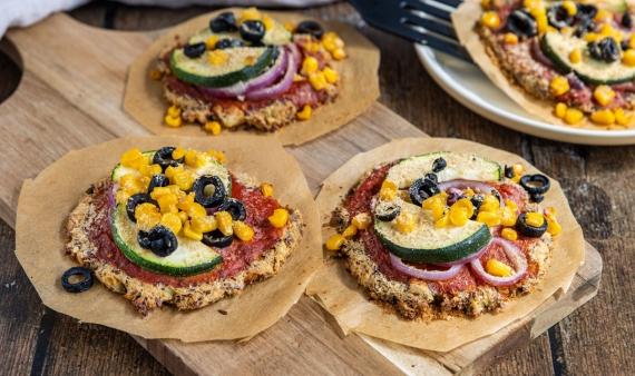 Vegane Blumenkohlpizza