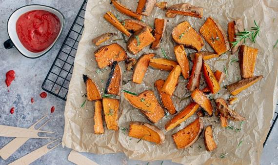 Süßkartoffelspalten