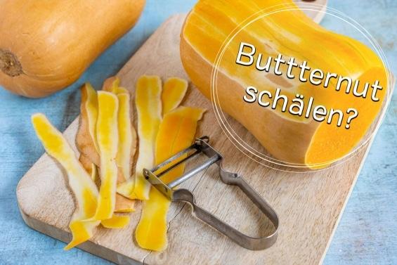 Butternutkürbis schälen