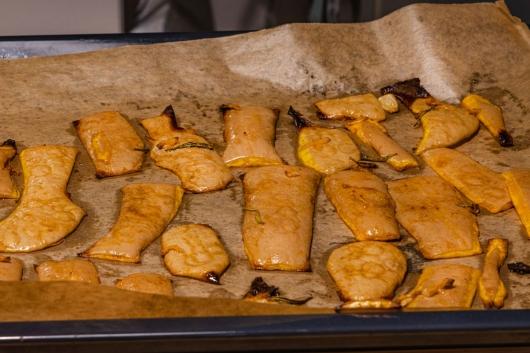 Butternutschalen aus dem Ofen