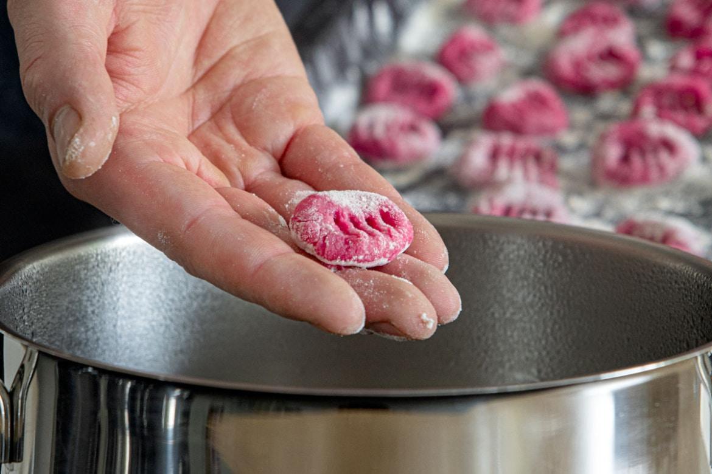 Rote Bete Gnocchi kochen