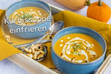 Kürbissuppe einfrieren