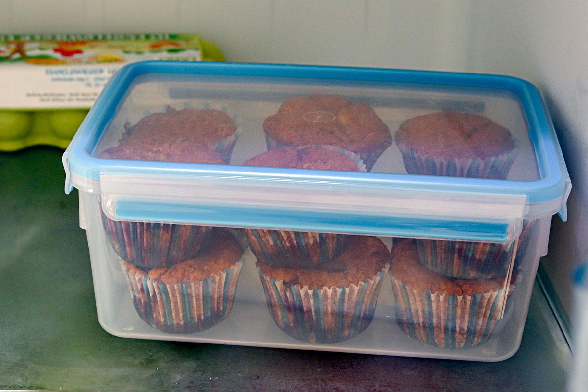 Muffins aufbewahren