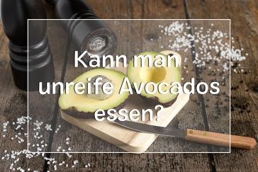 Harte Avocado essbar? - Titel