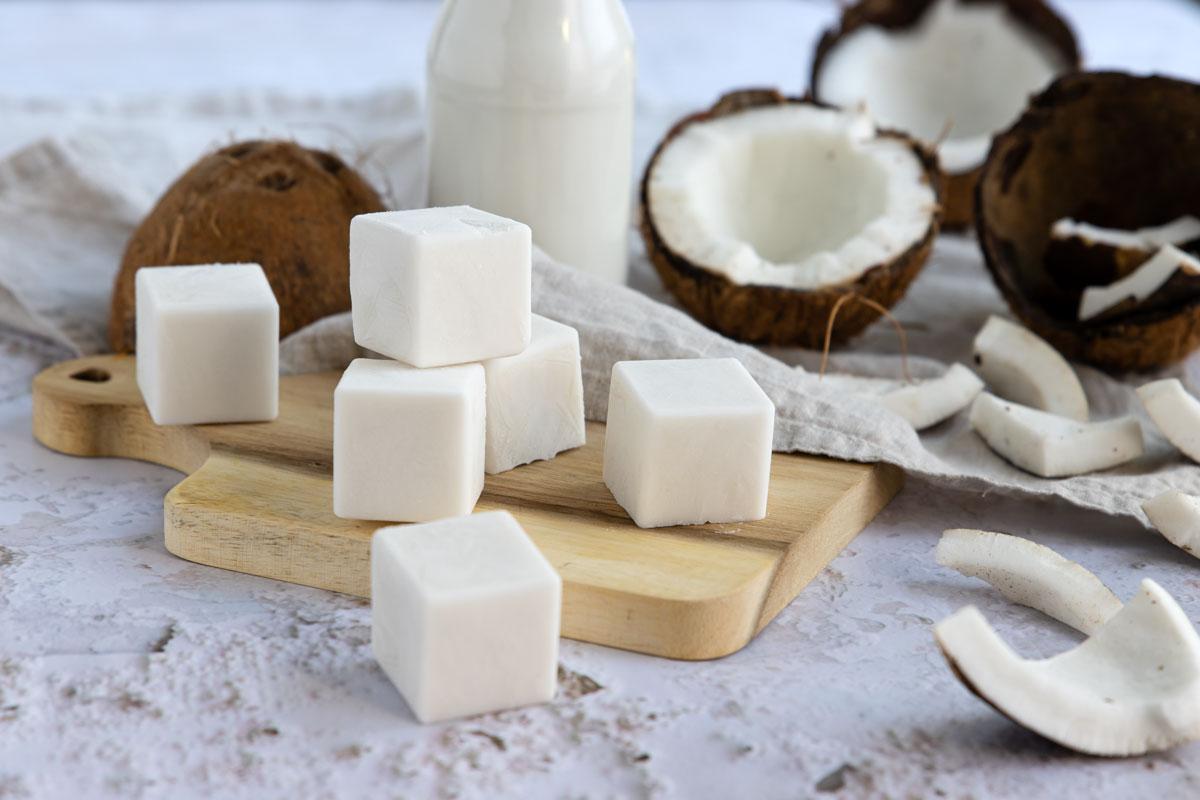 Kokosmilch Eiswürfel