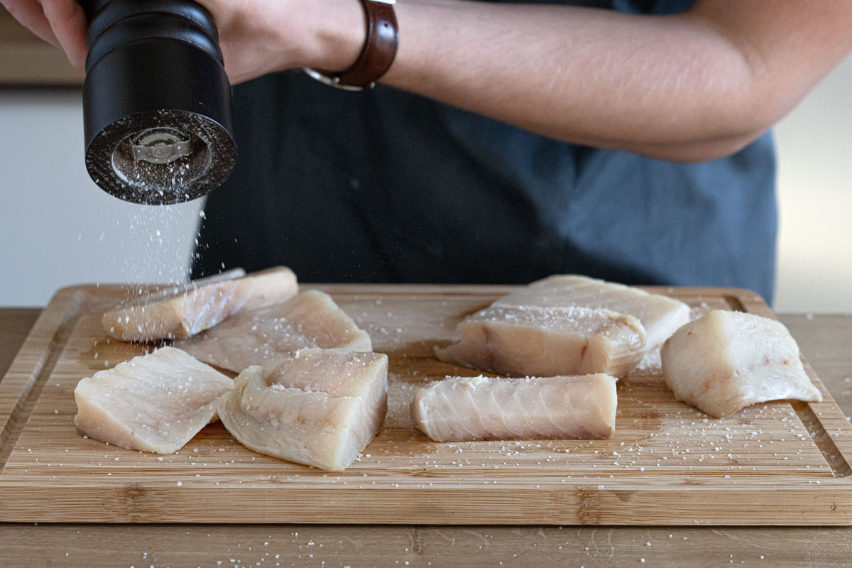Fisch salzen