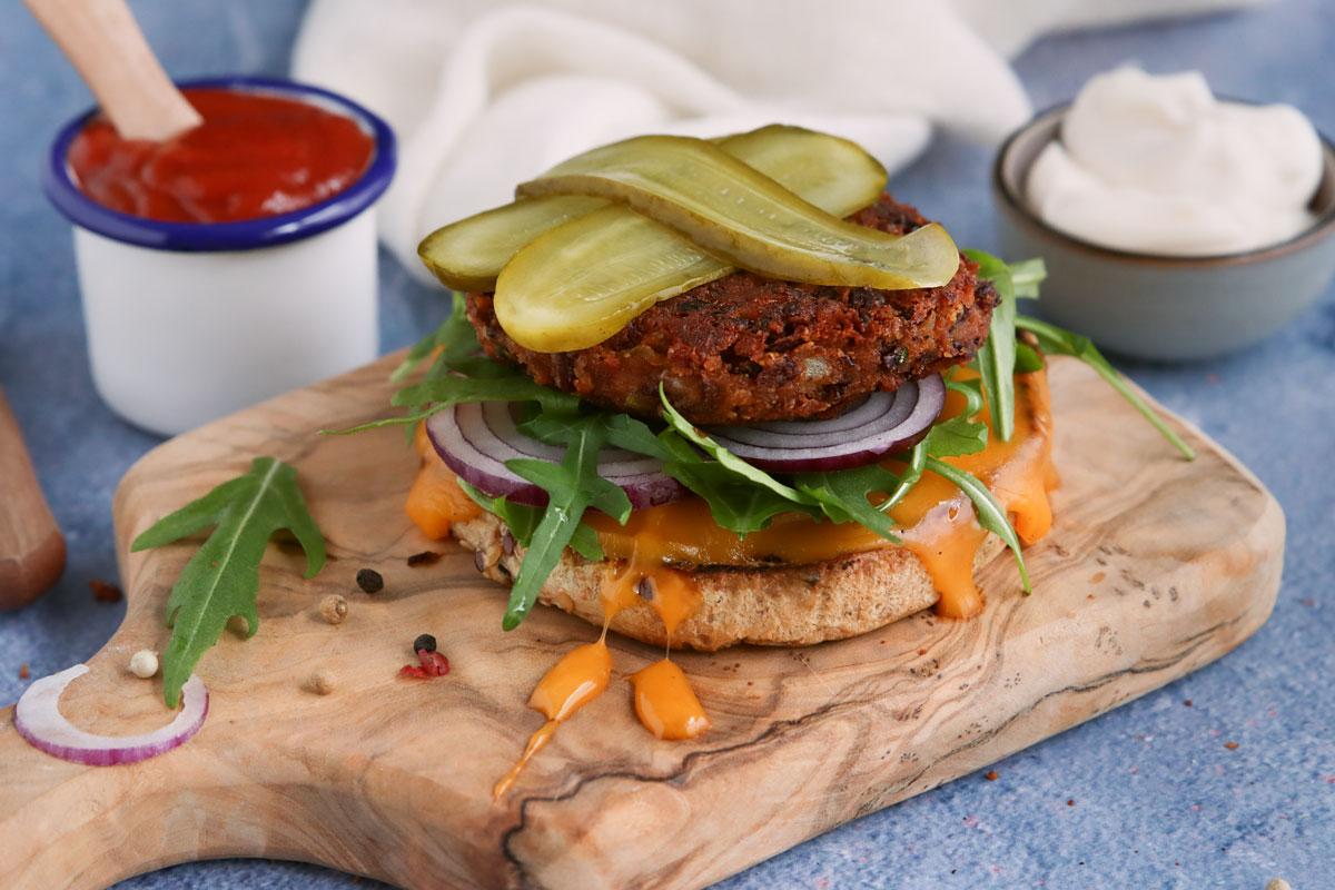 belegter Kidneybohnen-Burger