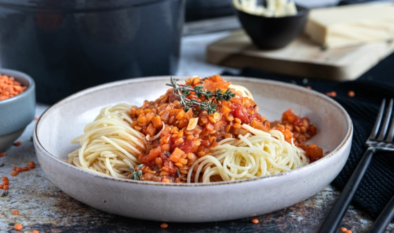 Rote Linsen Bolognese