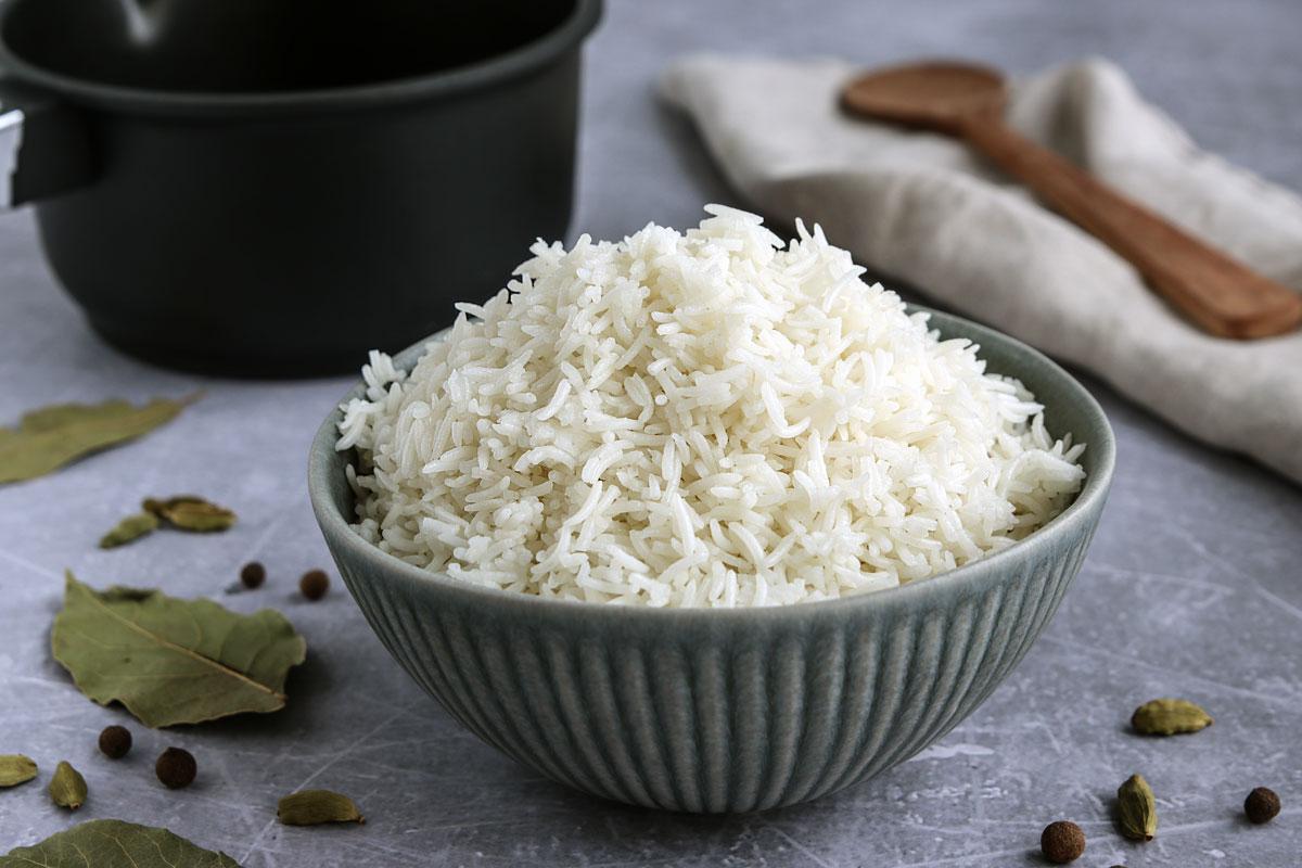 Reis als Beilage für Falafel