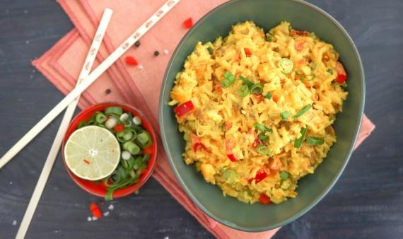 Beitragsbild Rezept veganer Reissalat