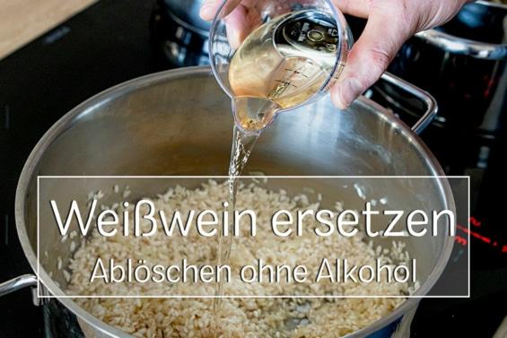 Weißwein beim Kochen ersetzen - Titel