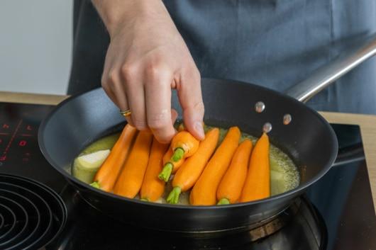 Karotten glasieren