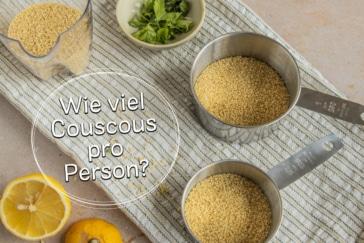 Perfekte Couscous Menge