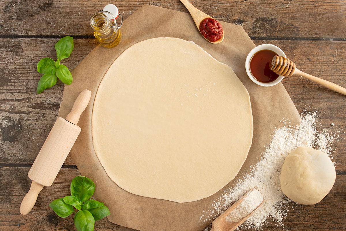 Pizzateig mit Dinkelmehl