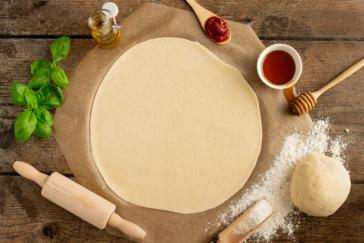 Pizzateig mit Dinkelmehl - Titel