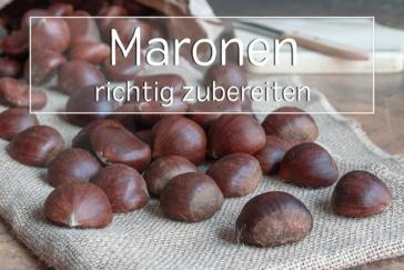 Maronen zubereiten - Titel