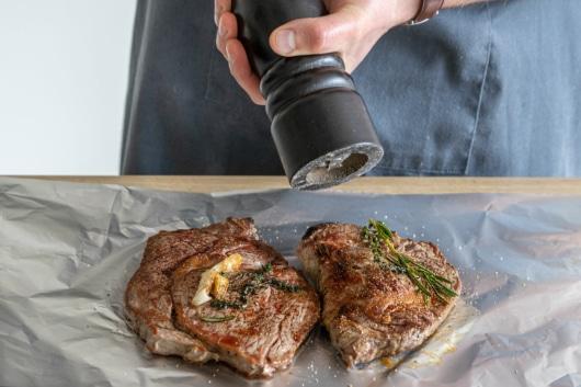 Steaks pfeffern