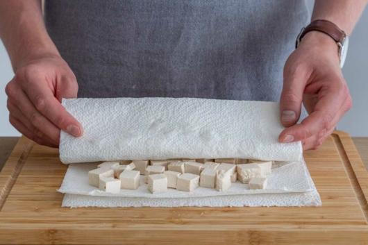 Tofu auspressen