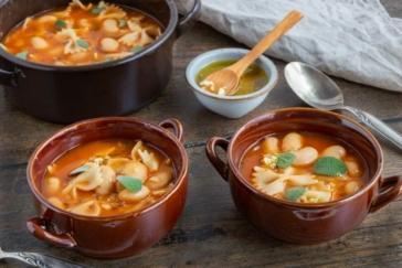 Weiße Bohnensuppe aus Dosenbohnen