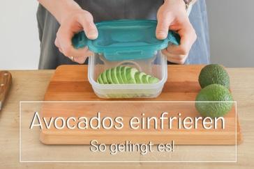 Avocados einfrieren - Titel