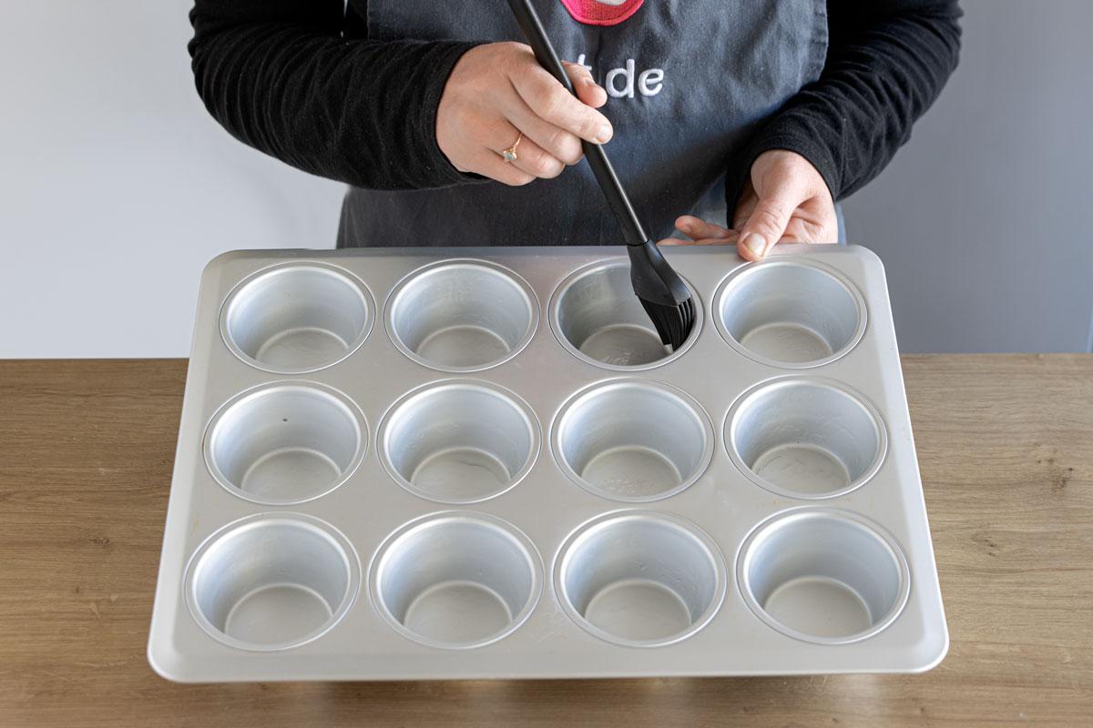 Muffinform fetten
