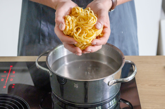 Tagliatelle kochen