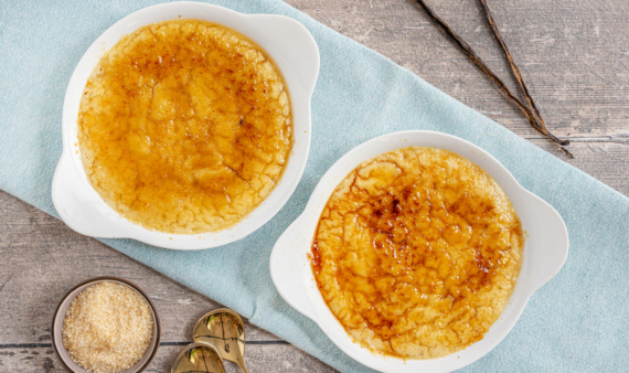 Vegane Crème Brûlée mit Seidentofu