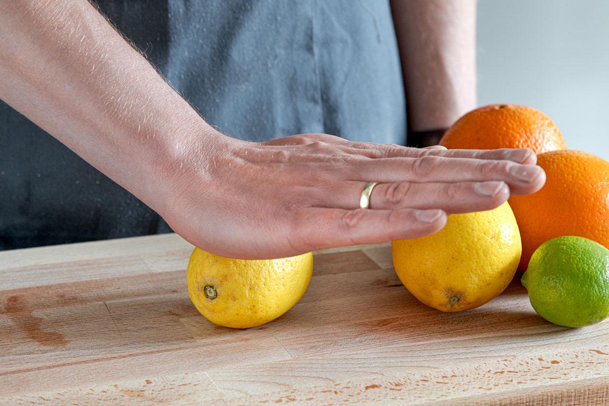 Zitrone rollen