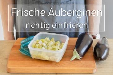 Auberginen einfrieren - Titel