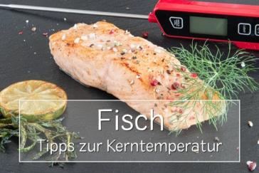 Kerntemperatur von Fisch - Titel
