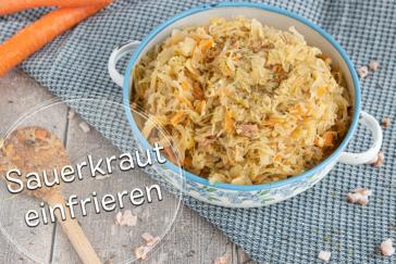 Sauerkraut einfrieren - Titel