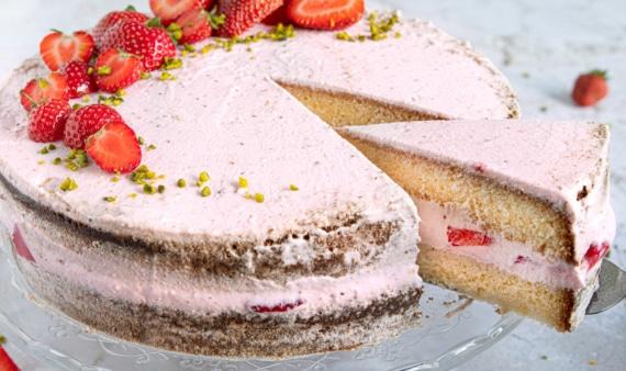 Erdbeercreme Torte