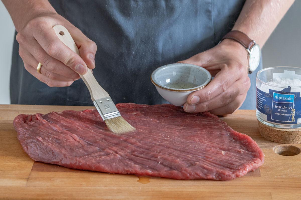 Fleisch einölen