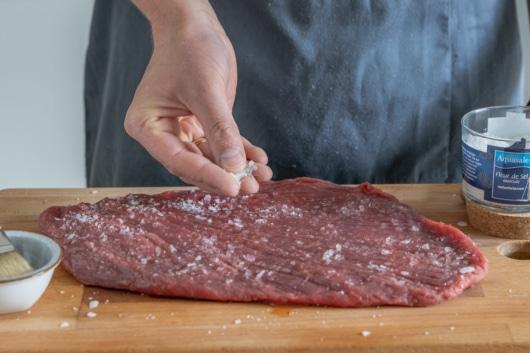 Fleisch salzen