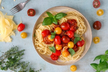 Tomatenragout mit Pasta
