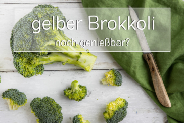 gelber Brokkoli genießbar