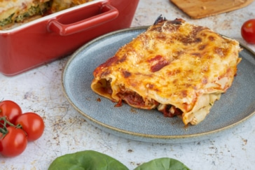 Cannelloni mit Spinat und Ricotta