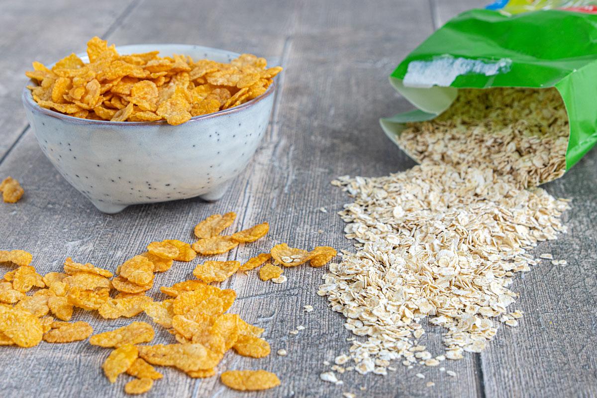 Cerealien als Paniermehl Ersatz