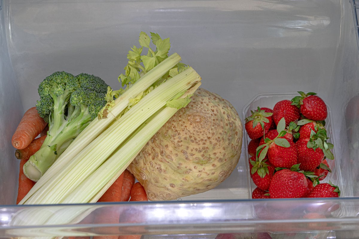 Gemüsefach im Kühlschrank