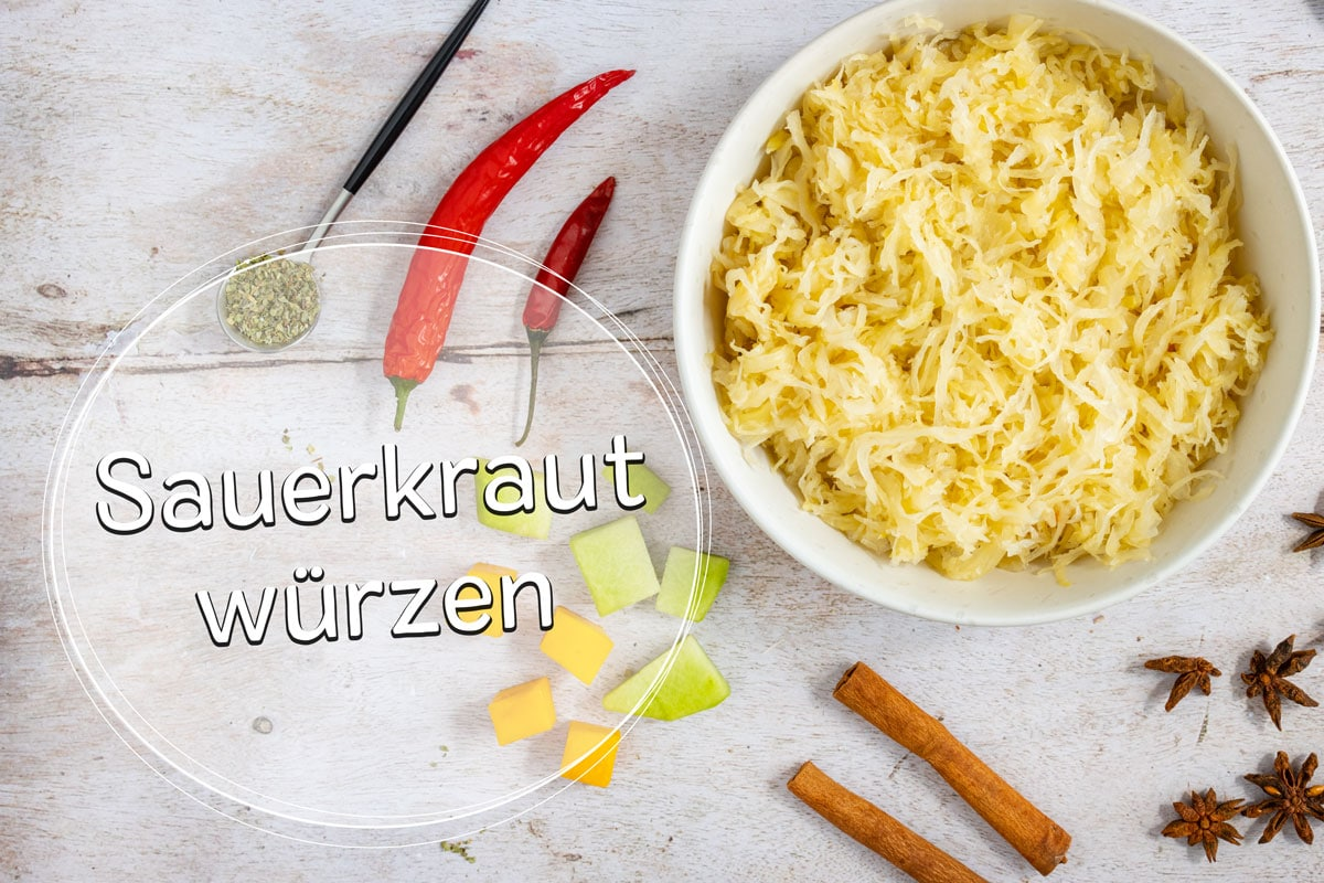 Sauerkraut würzen