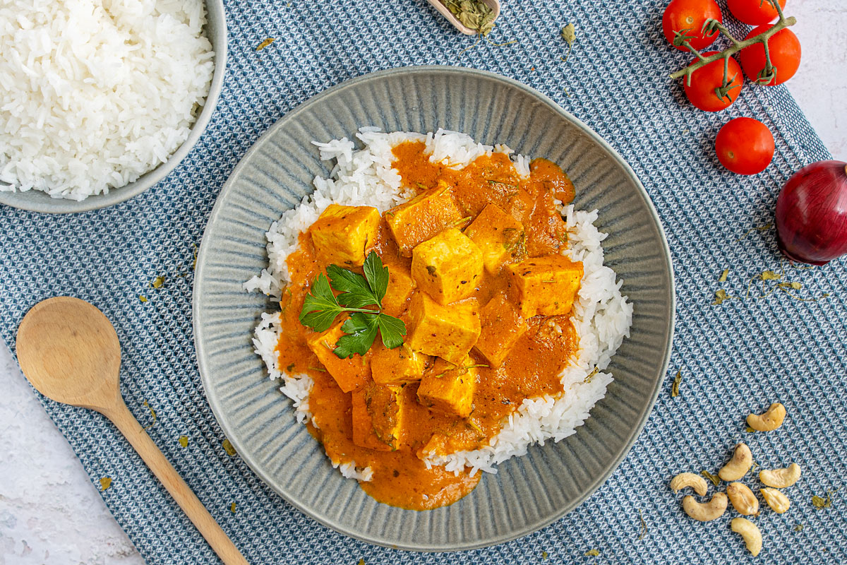 Indisches Shahi Paneer Curry