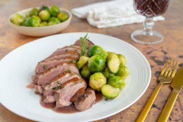 Entenbrust mit Rotweinsauce