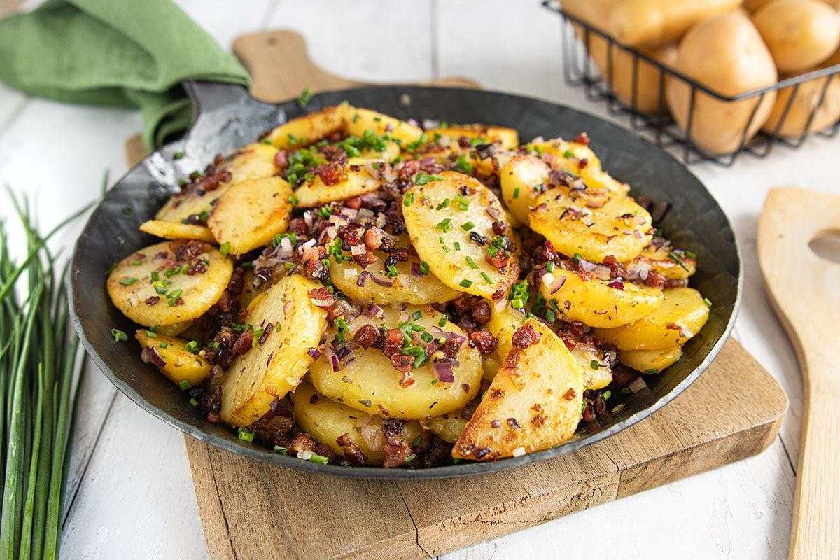 Gesunde Bratkartoffeln wie von Oma