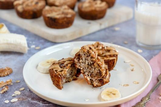 Gesunde Frühstücksmuffins mit Haferflocken