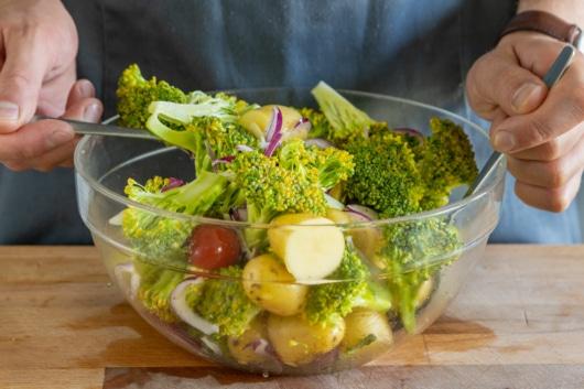 Gemüse vermischen