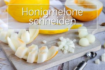 Honigmelone schneiden