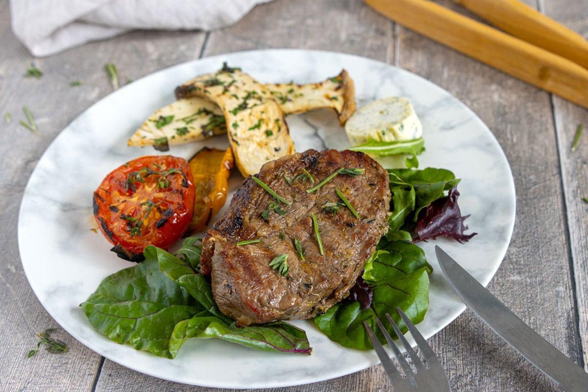 Roastbeef Steaks grillen